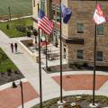 Flags at Campus Commons