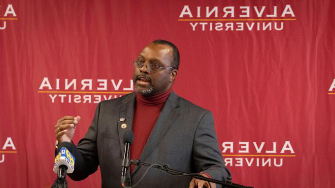 Dr. Rodney Ridley speaks at the Reading CollegeTowne Announcement in December 2019